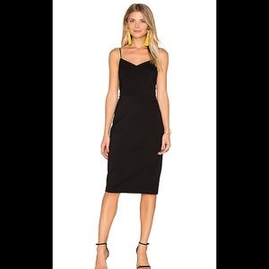 Nwt 1.state black bodycon slip dress black medium
